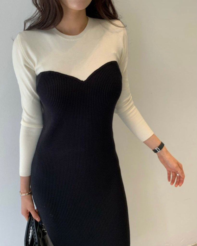 Leona Contrast Ribbed Knit Ops