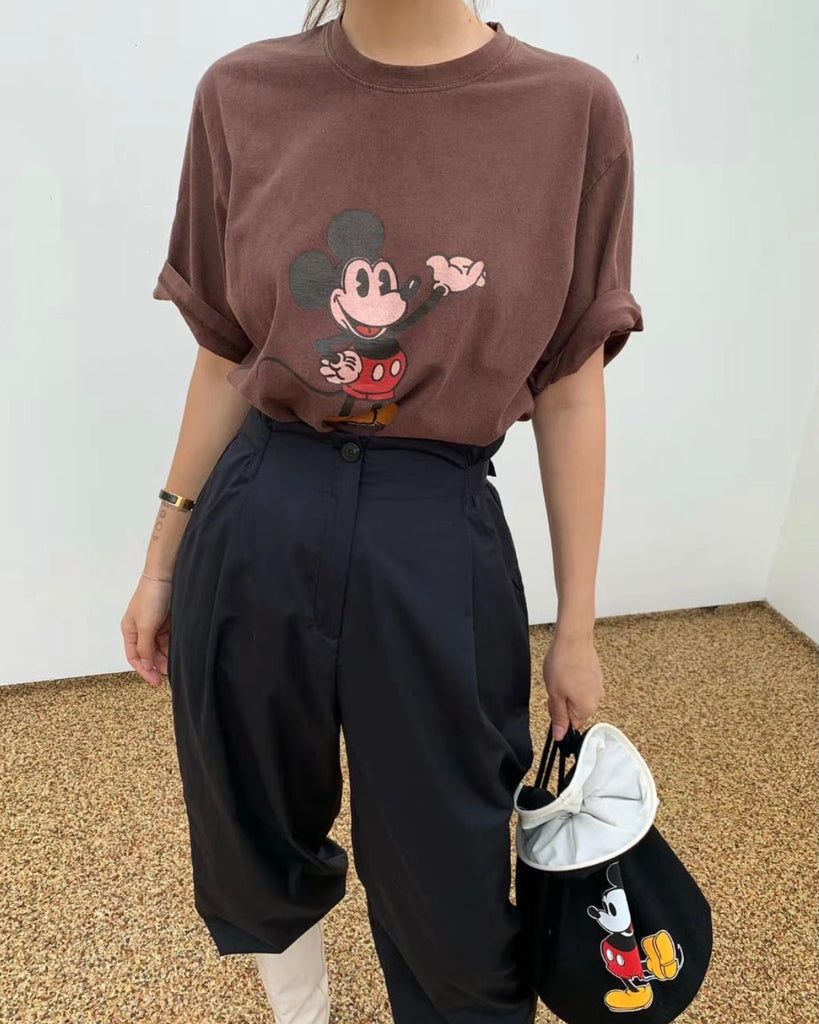 Mickey Loose Tee (Brown)