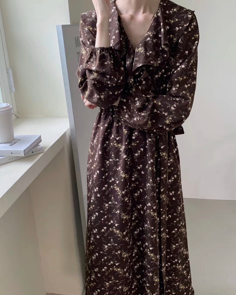 Autumn Floral Wrap Ops (Brown)