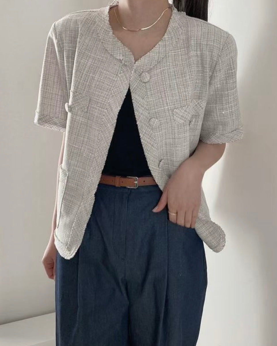 Del Short Tweed Jacket