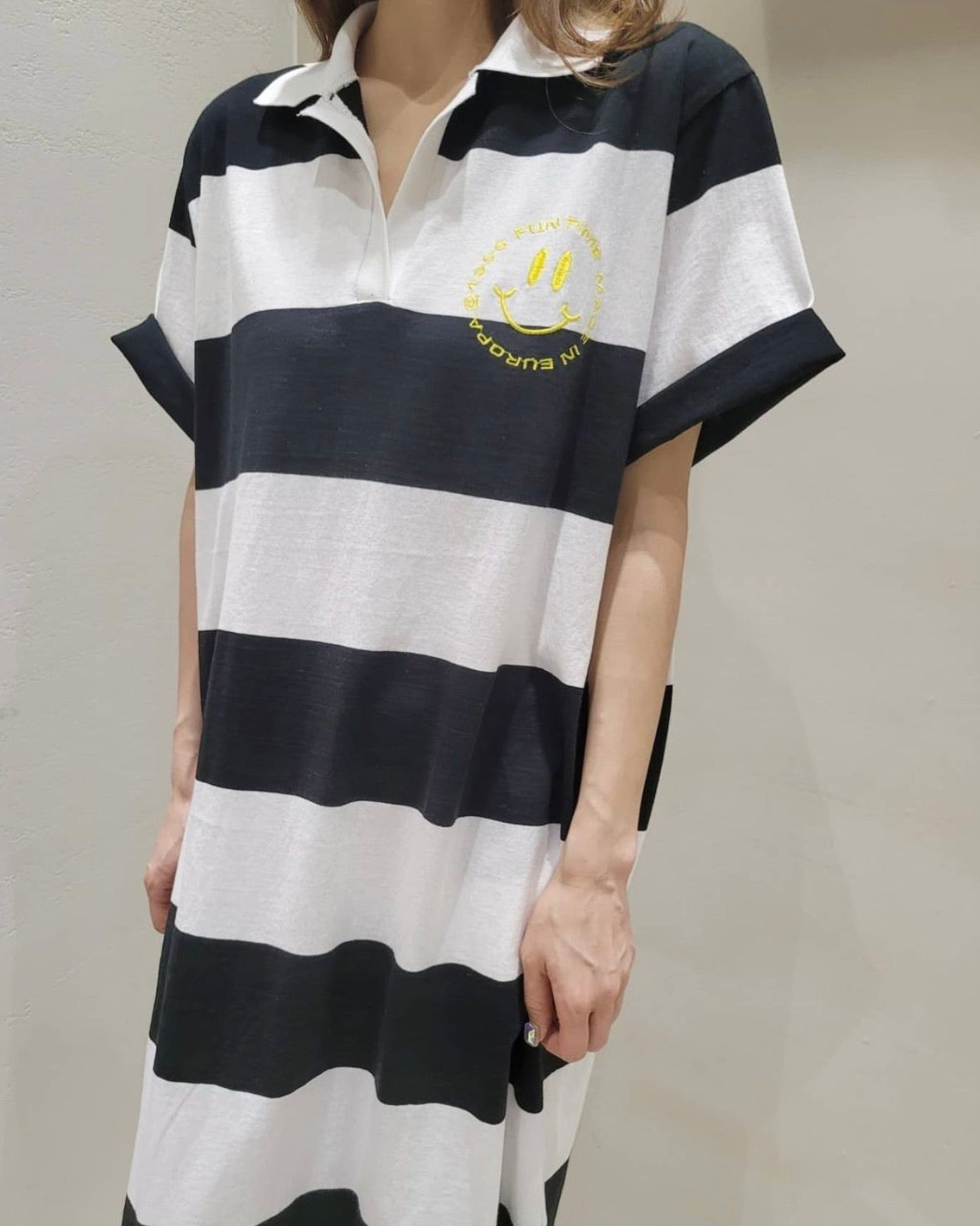 Fun Time Smiley Stripe Polo Ops