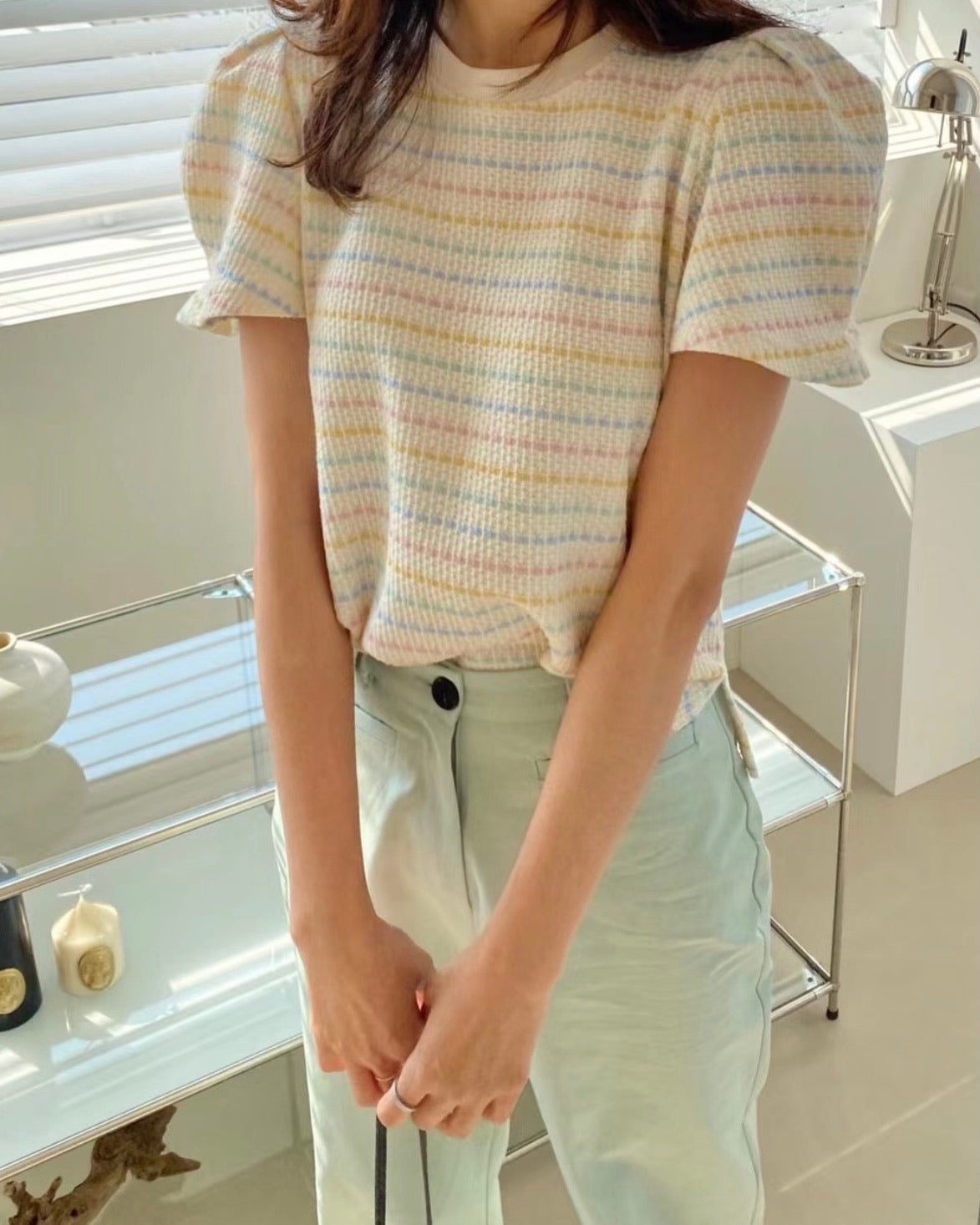 Colourful Stitch Knit Top