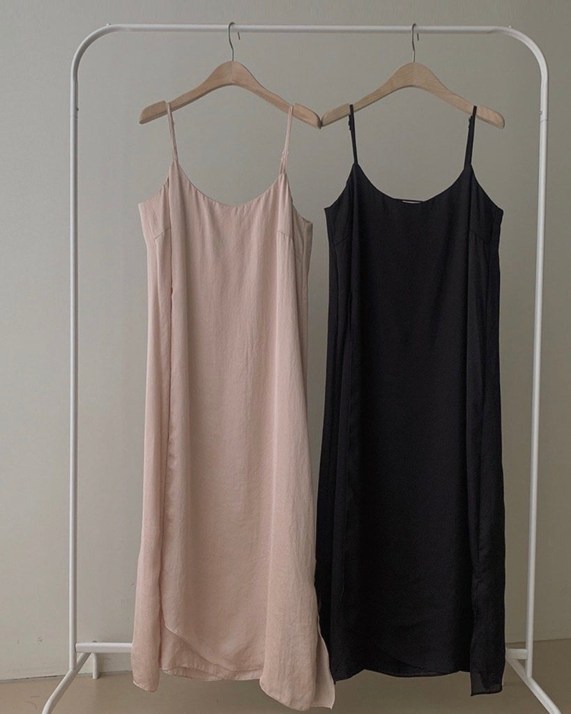 Side Ribbon Tie Sleeveless Slip Ops