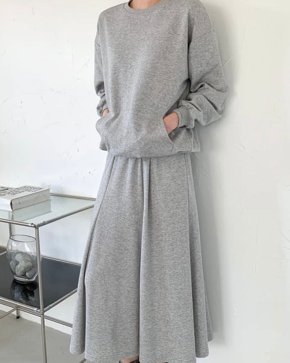 Casual Pullover and A-Line Skirt Set