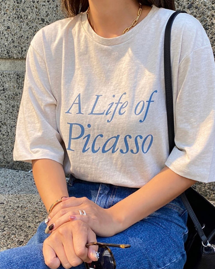 Life Of Picaso Tee (Oatmeal)