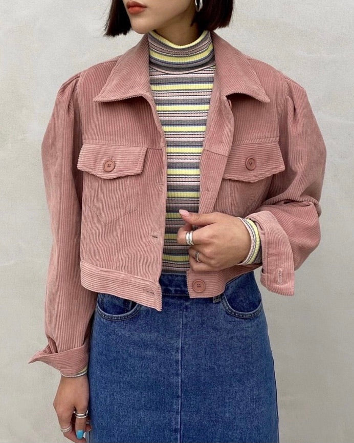 Allie Corduroy Crop Jacket