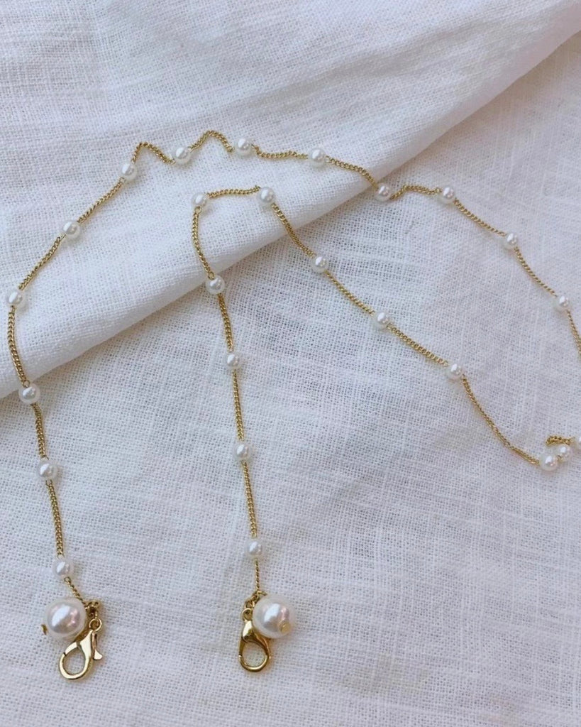 Pearl Dangle Mask Chain
