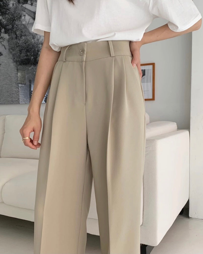 Back Banded Flare Cut Pants