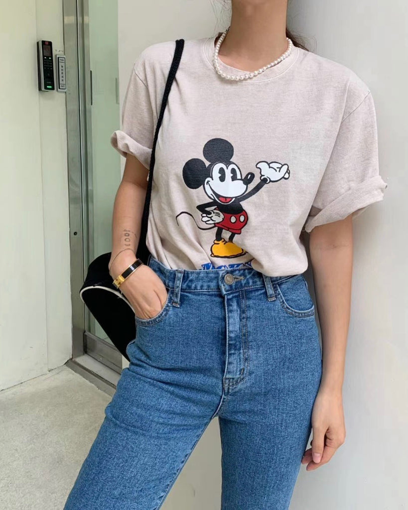 Mickey Loose Tee (Beige)