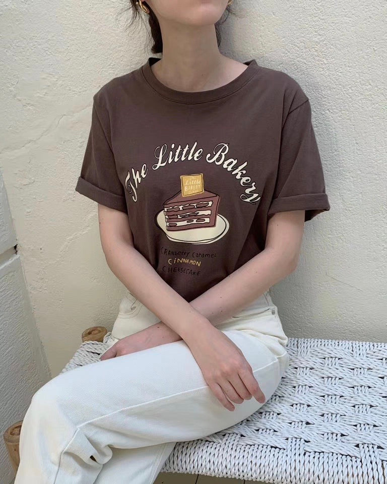 The Little Bakery Tee (Brown)