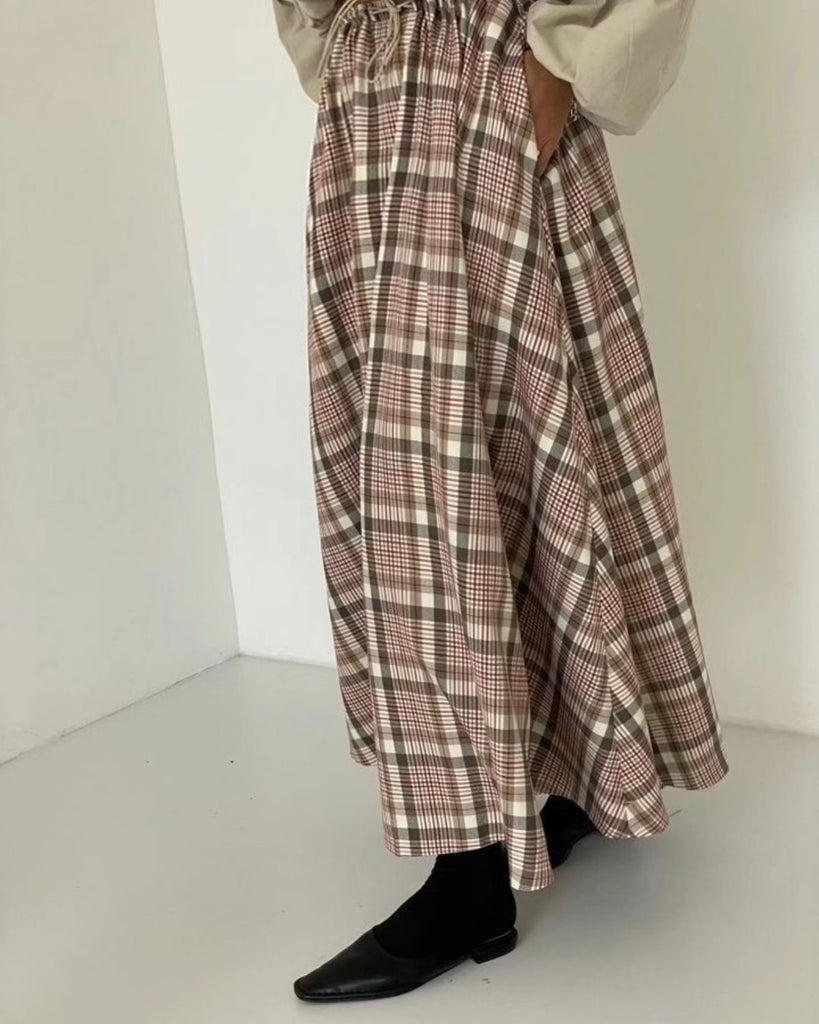 Ella Maxi Skirt (Checked)