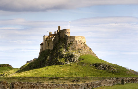View of the monastery of Lindisfarne, located on the homonymous island