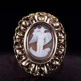 18K gold ring with cameo depicting Archangel Michael, early 900s - Antichità Galliera