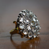 Antique 18K gold and silver patch ring with diamonds, early 900s - Antichità Galliera