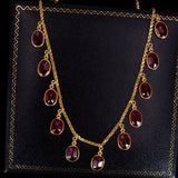 Vintage 14K gold and ruby ​​necklace, 80s - Antichità Galliera