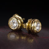 Vintage Light Point Ohrringe aus 18 Karat Gold mit 0,35 ct Diamanten