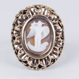 18k gold ring with cameo depicting the Archangel Michael, early 900s - Antichità Galliera