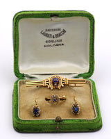 Bourbon 14k gold set with brooch, ring and earrings. Late 800th century - Antichità Galliera