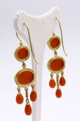 Gold and coral earrings, 40s - Antichità Galliera