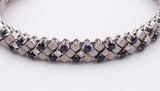 Bracelet in white gold, sapphires and brilliant cut diamonds - Antichità Galliera