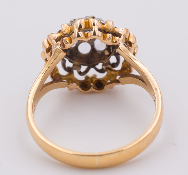 Anello in oro con zirconi - Antichità Galliera