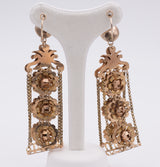 Bourbon earrings in gold and enamels - Antichità Galliera