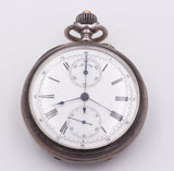 Pocket chronograph in silver, late 800th century - Antichità Galliera