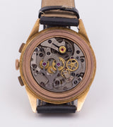 Vintage Lemania chronograph in 18k gold, 1950.