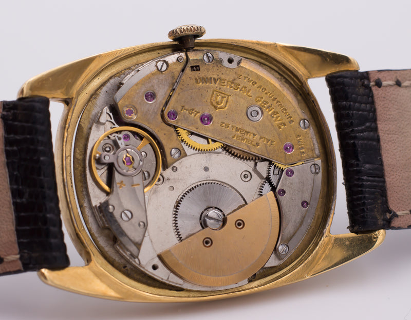 "Orologio vintage Universal Geneve ""GoldenShadow"" automatico in oro 18k. Anni 50"