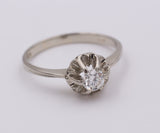 White gold solitaire ring with brilliant cut diamond