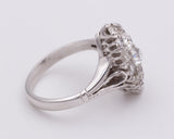 Antique white gold ring with diamonds, 30s