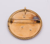 Vintage 18k gold brooch / pendant with diamonds, 50s