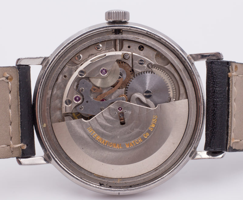 Orologio da polso vintage IWC International Watch Company in acciaio, automatico con data. 1960 circa
