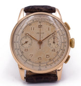 Vintage Revue chronograph in gold from the 50s