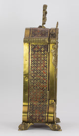 Clock holder in wood, bronze and turtle. First half of the 800th century