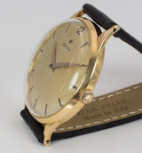 Zenith vintage wristwatch in 18k gold, 50s