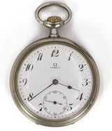 Omega pocket watch in steel, early 900s