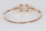 Antique 9K gold bracelet with diamond rosettes, early 900s