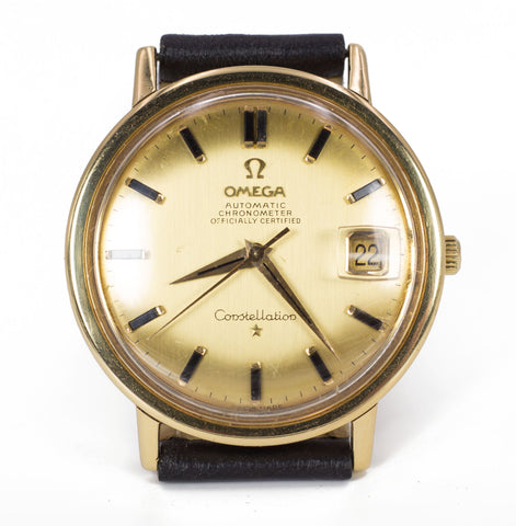 Orologio Omega Constellation in oro 18k automatico con data, anni 60