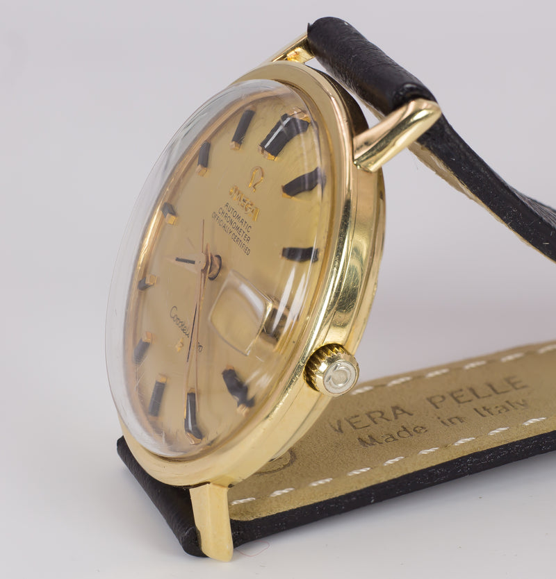 Orologio vintage Omega Constellation in oro 18k automatico con data, anni 60