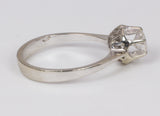 Solitaire ring in 18k gold with a brilliant cut diamond of approximately 0.45 ct