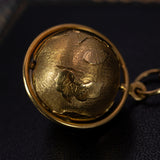 Vintage pendant in the shape of a globe in 18K gold, 70s - Antichità Galliera
