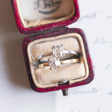 Solitaire in 18K yellow gold with 0.45ct old mine cut diamond