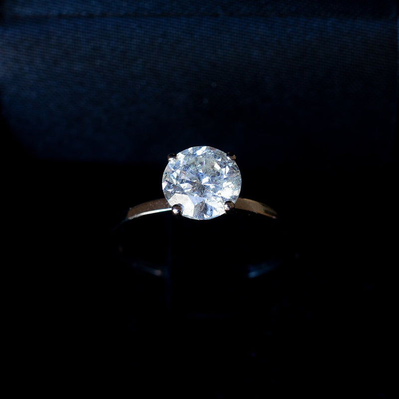 Solitario moderno in oro 14K con diamante da 1.50ct - Antichità Galliera
