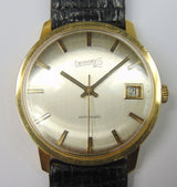 Automatic Eberhard gold wristwatch with date. Year 1975. With box and guarantee - Antichità Galliera