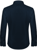 'True' Slim Fit Long Sleeve Navy Blue Shirt