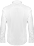 'Pylon LS' White Slim Fit Long Sleeve Shirt - Supermodernism