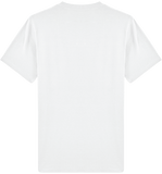 'Barrier' Organic Cotton White T-shirt - Supermodernism