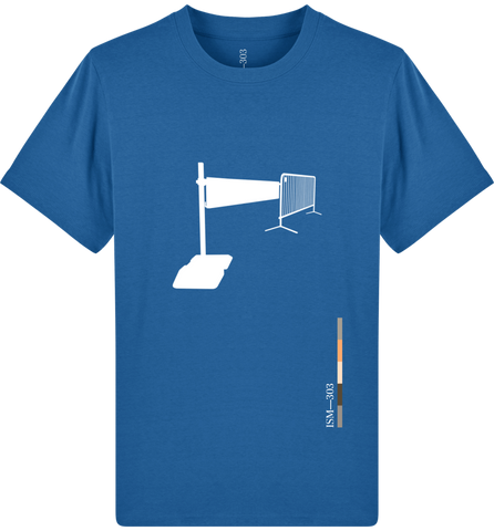 'Barrier' Organic Cotton Royal Blue T-shirt