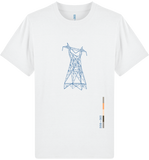 'Pylon' Organic Cotton White T-shirt